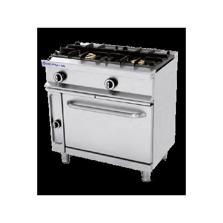 Cocina a gas de 2 quemadores y horno repagas