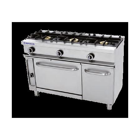 Cocina a gas de 3 quemadores y horno repagas