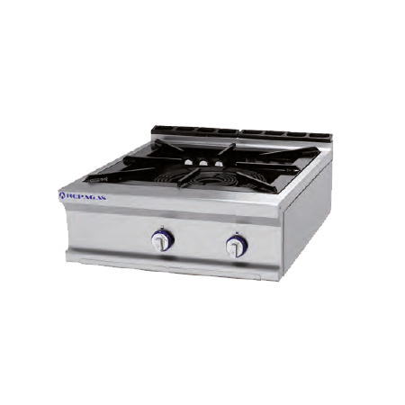 Cocina a gas de un solo fuego grande para paella