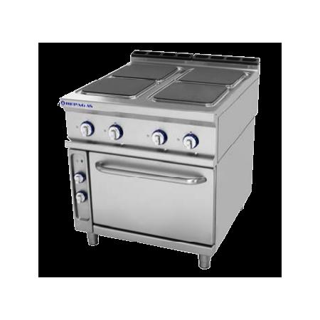 Cocina electrica de 4 placas+ Horno Repagas